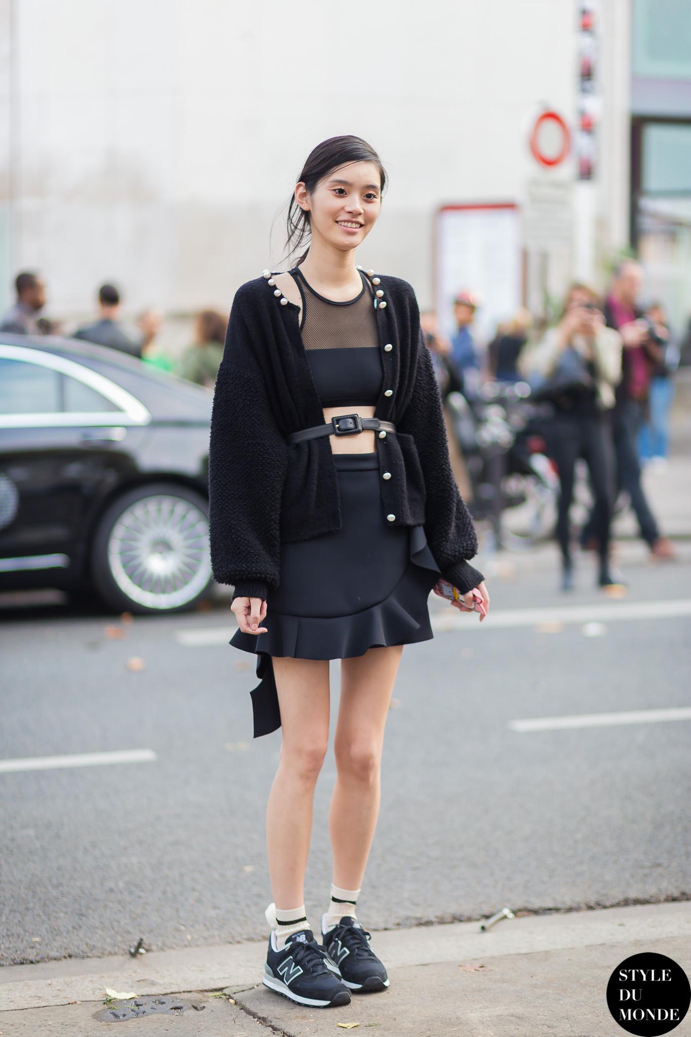 Blackfashion Blog Facebook Puksies Wardrobe Tumblr: Paris FW SS15 Street Style: Ming Xi