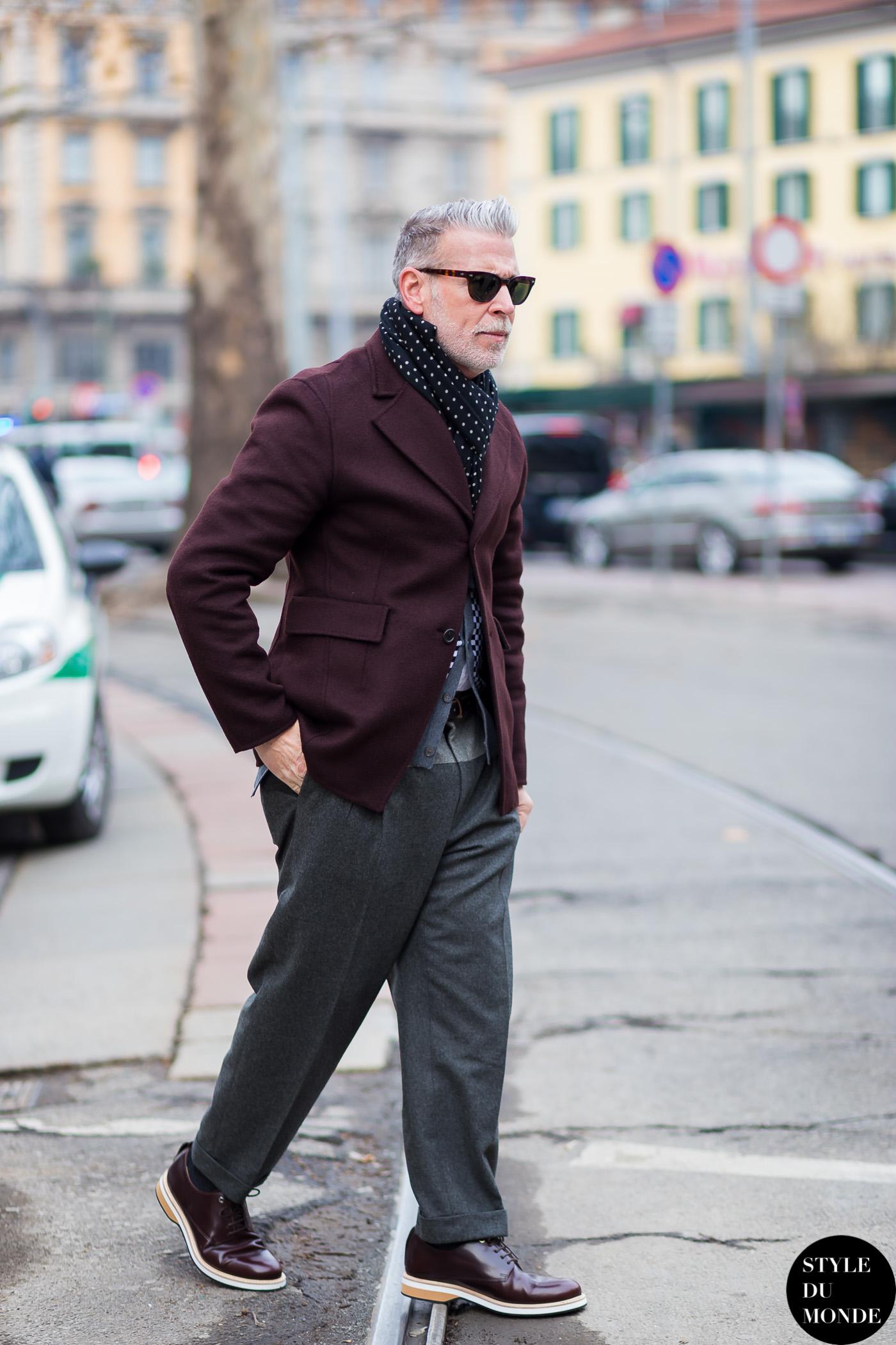 Milan Men's FW15 Street Style: Nick Wooster - STYLE DU ...