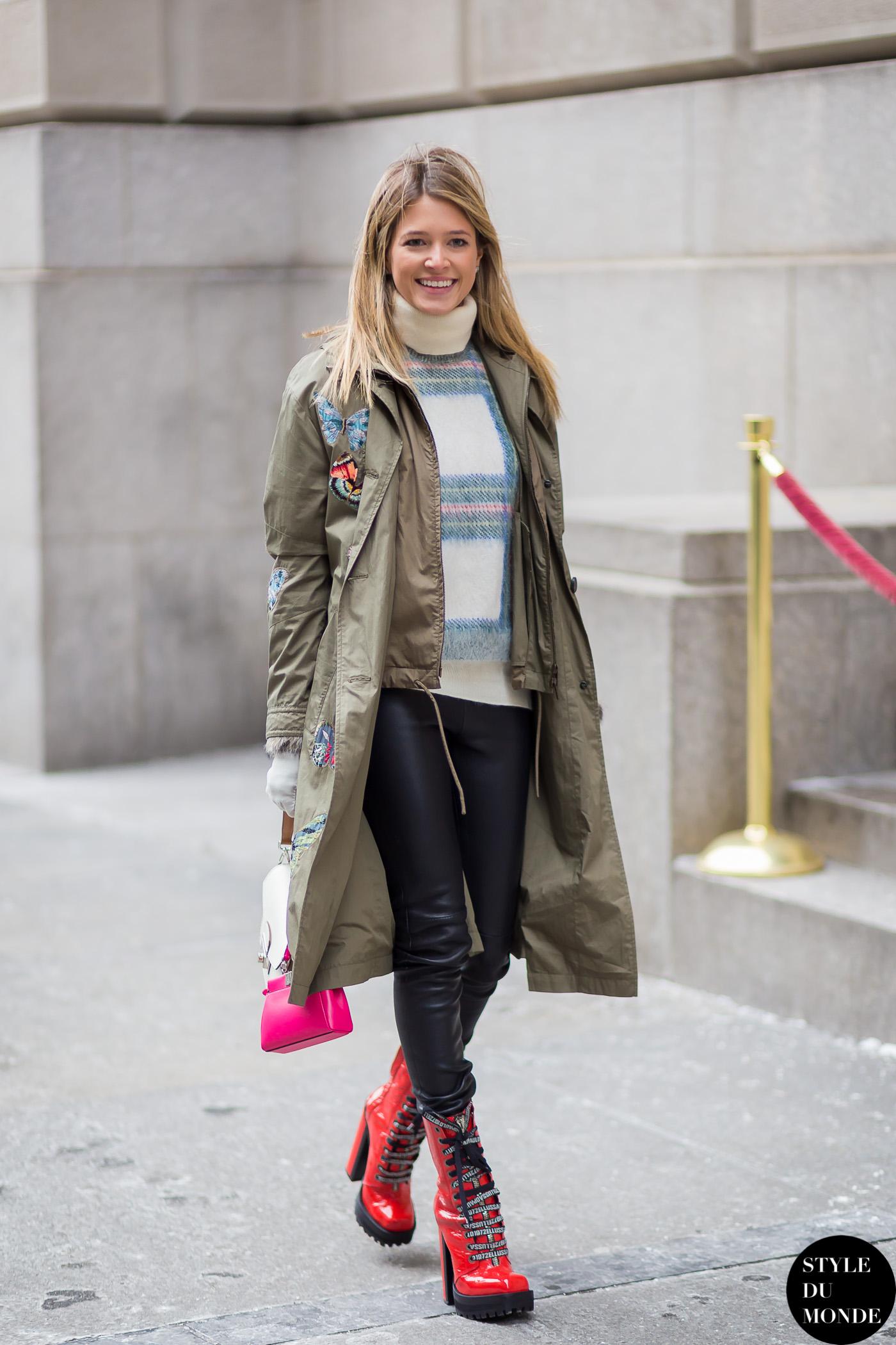 New York Fashion Week Fw 2015 Street Style Helena Bordon Style Du Monde Street Style Street