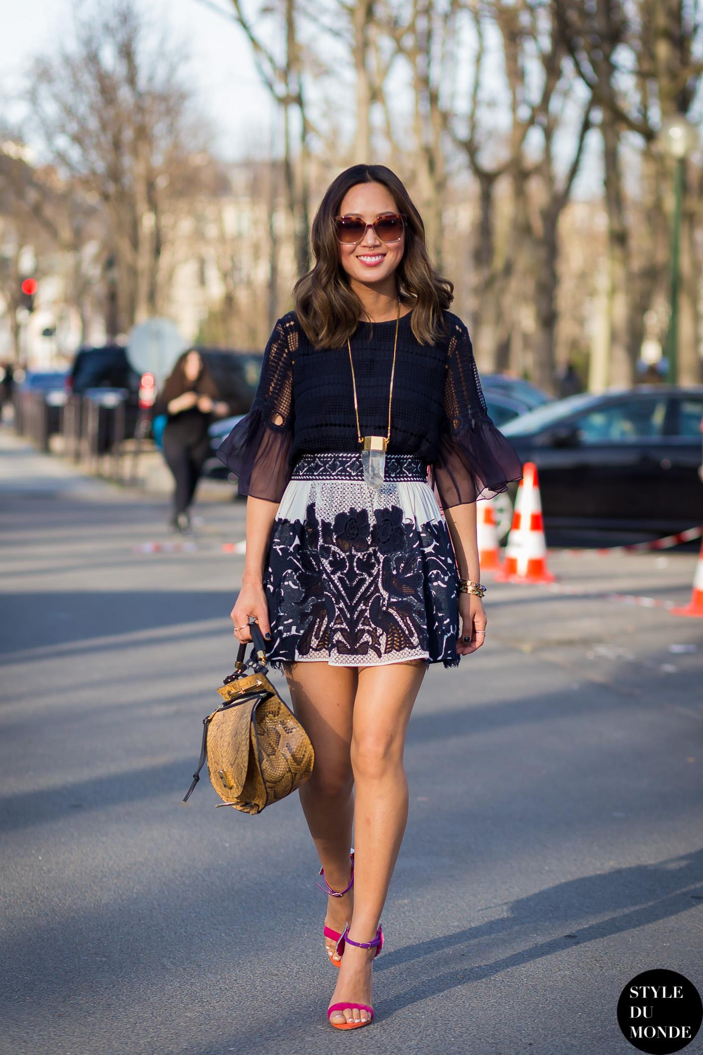 Paris Fashion Week Fw 2015 Street Style Aimee Song Style Du Monde Street Style Street