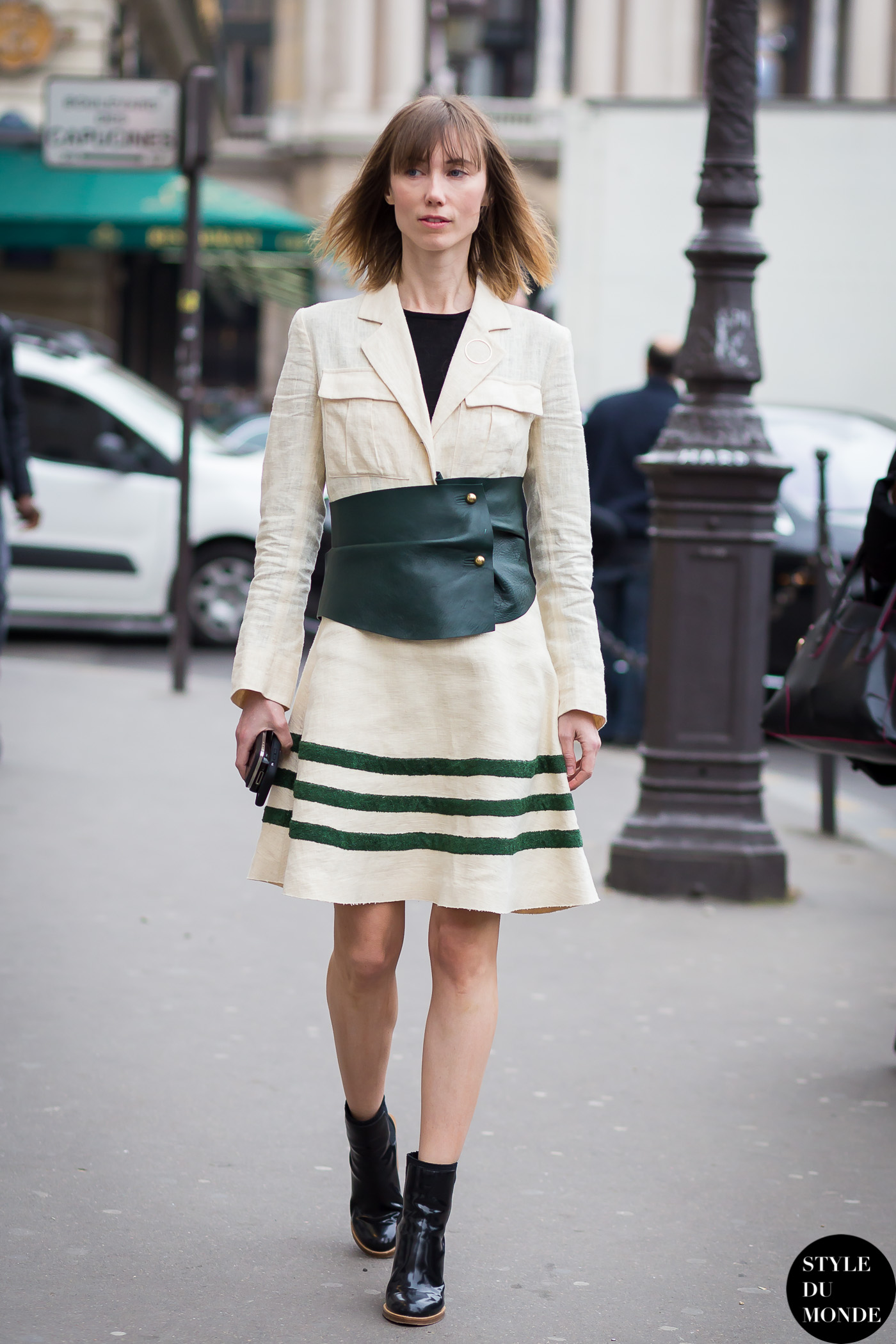 Paris Fashion Week FW 2015 Street Style: Stella Tennant