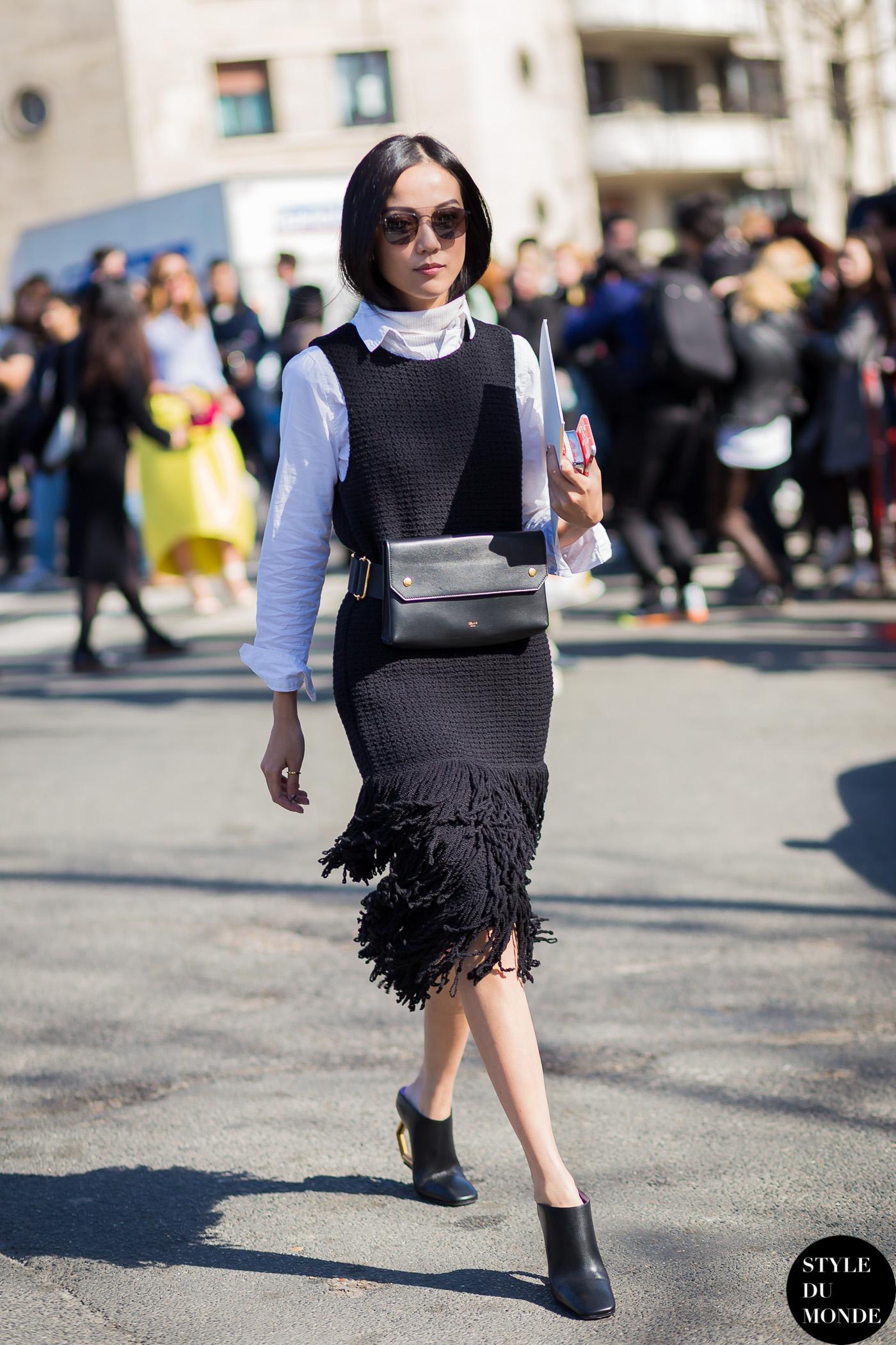 Paris Fashion Week Fw 2015 Street Style Yoyo Cao Style Du Monde Street Style Street Fashion