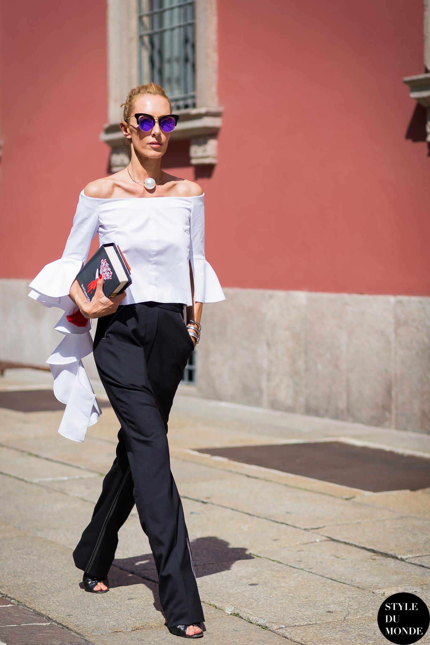 Milan Men's SS16 Street Style: Elina Halimi