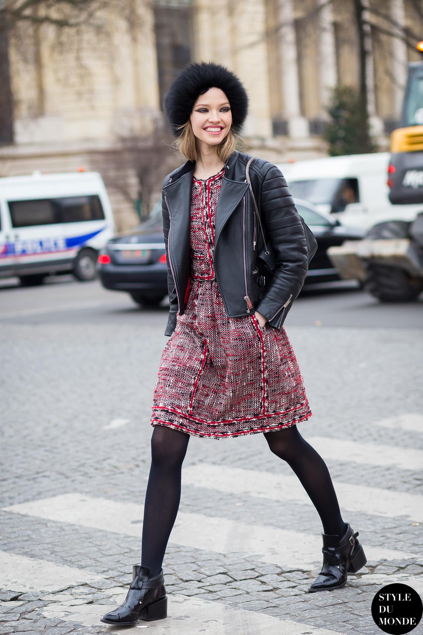 Paris Fashion Week Fw 2015 Street Style Sasha Luss