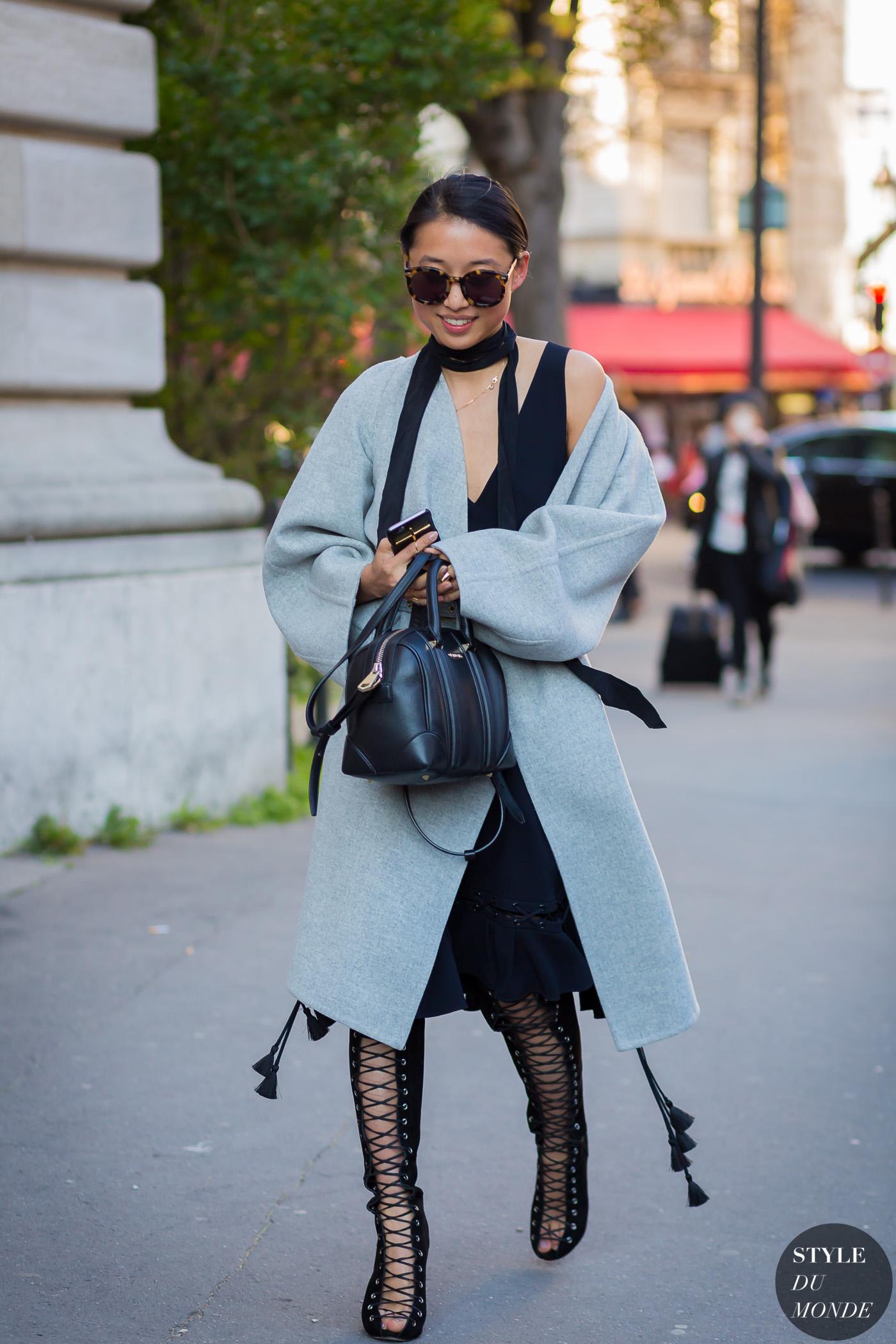 afe5f137e7 Margaret Zhang wearing Chloé coat