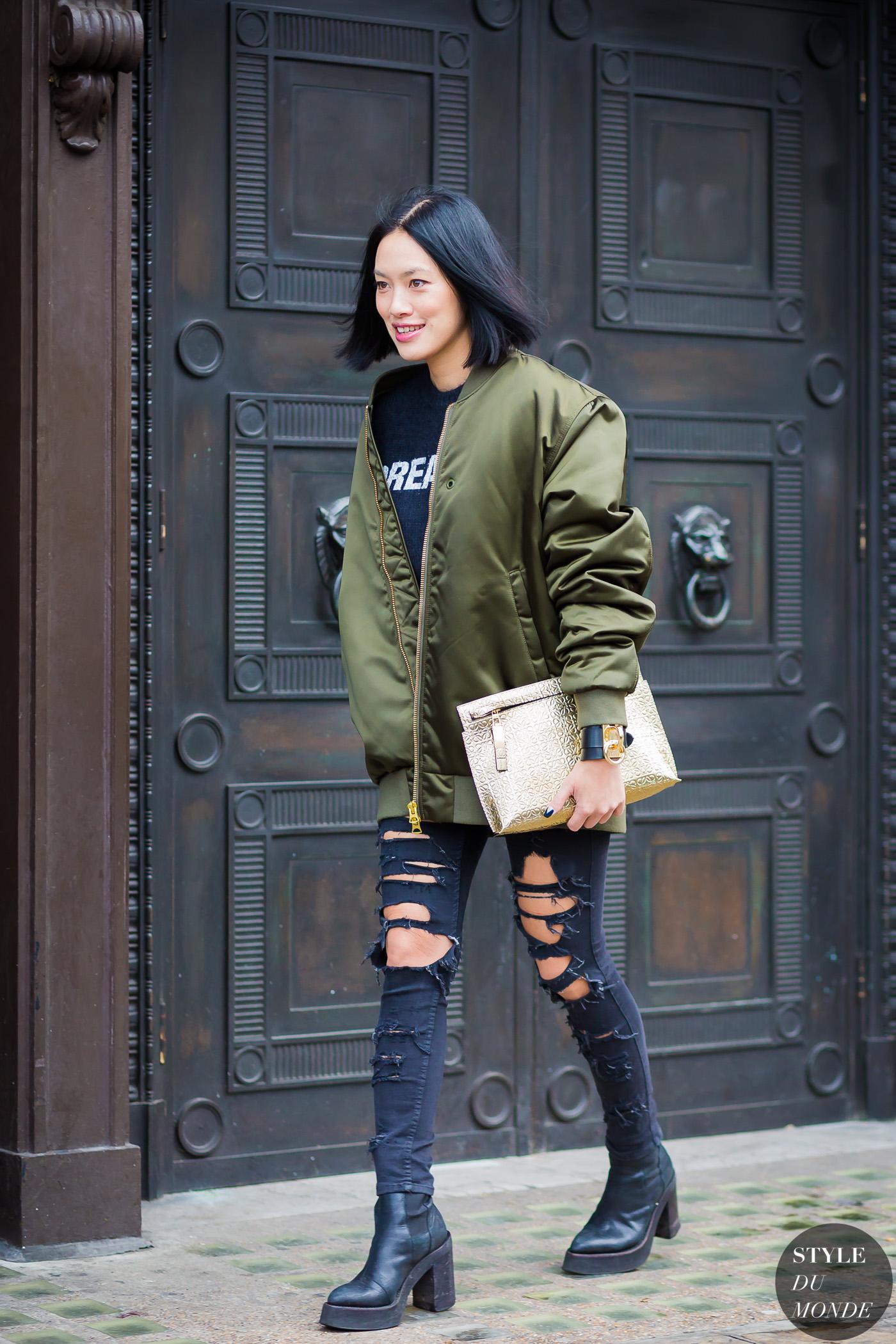 3cb7e08fa Tiffany Hsu Street Style Street Fashion Streetsnaps by STYLEDUMONDE Street  Style Fashion Photography