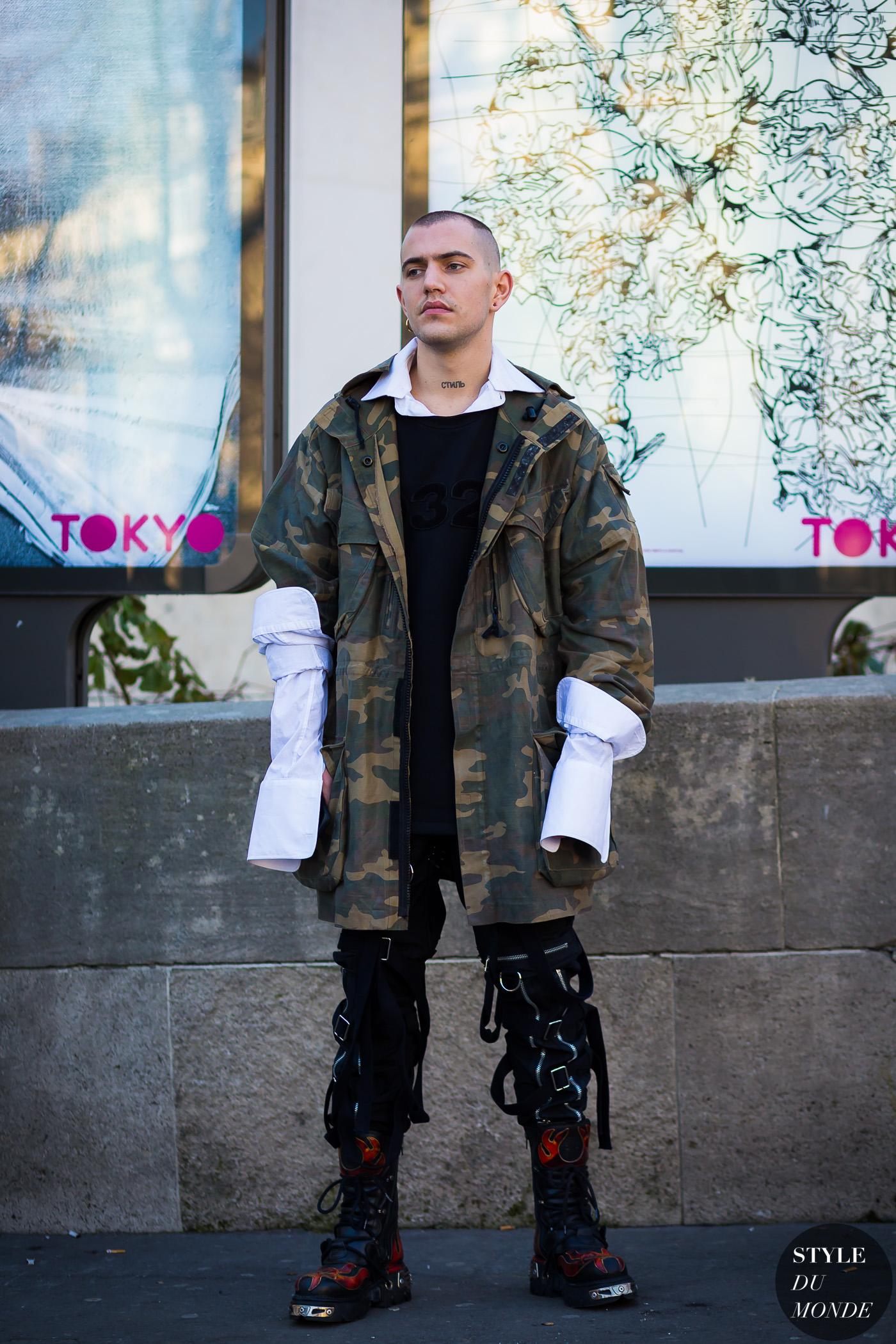 Paris Men S Fashion Week Fw 2016 Street Style Marc Goehring Style