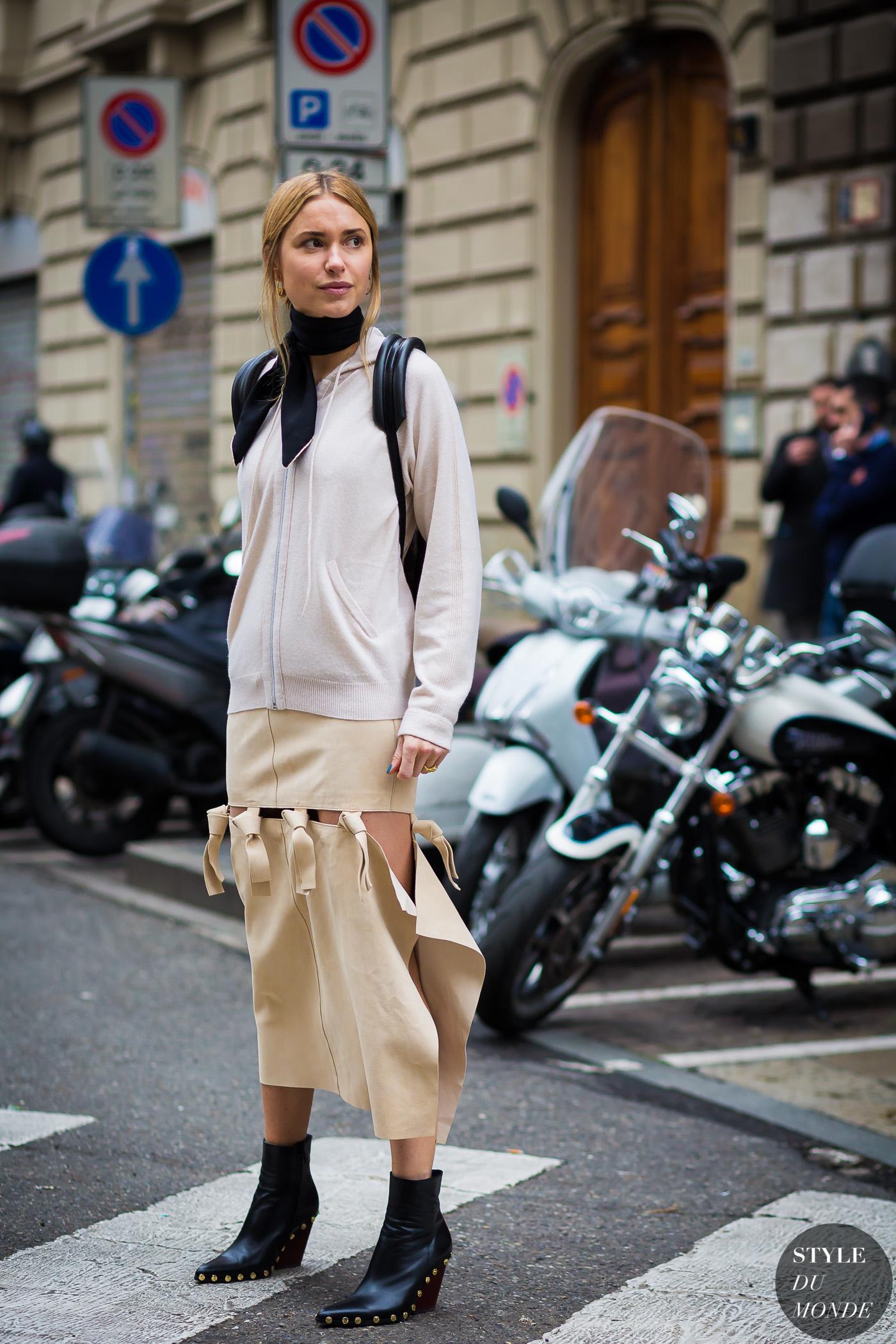 Milan Fashion Week Fw 2016 Street Style Pernille Teisbaek Style Du Monde Street Style