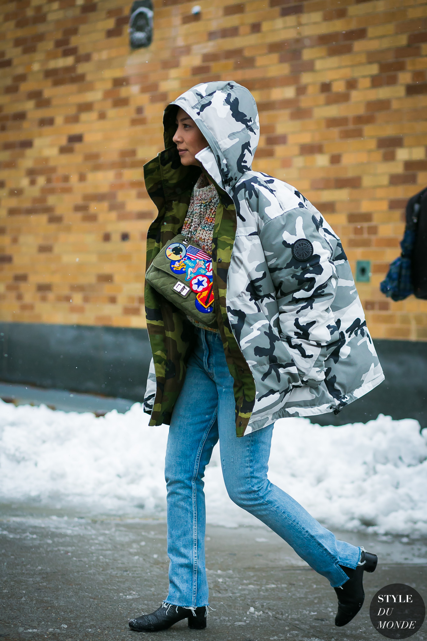 New York Fashion Week Fall 2017 Street Style: Vetements Canada Goose jacket