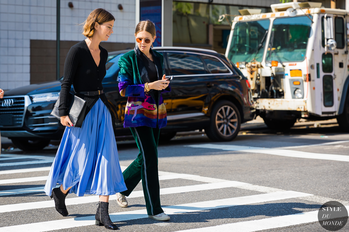 Image for New York SS 2018 Street Style: Annina Mislin and Megan Bowman Gray