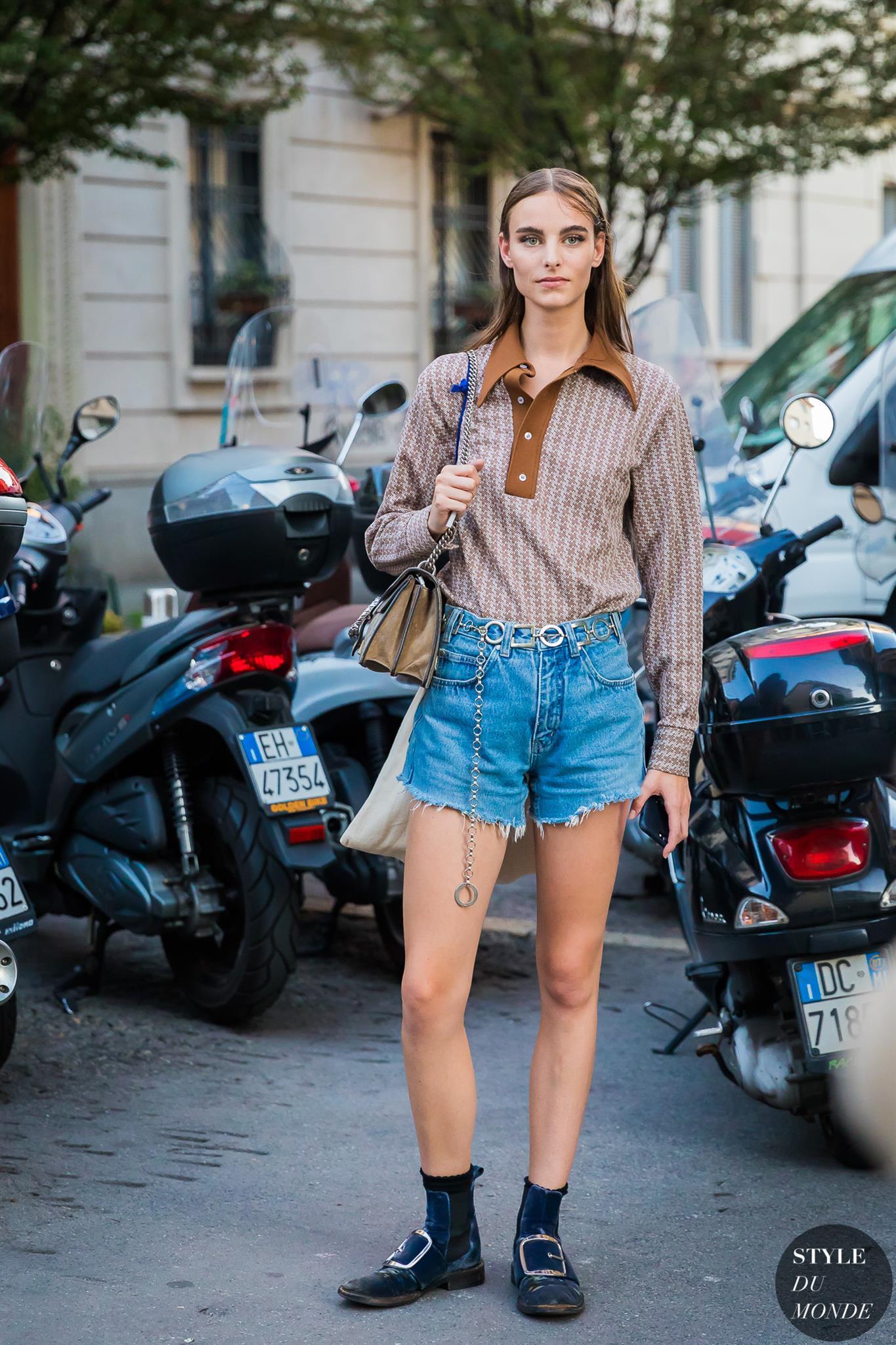 Milan Ss 2018 Street Style Model Off Duty