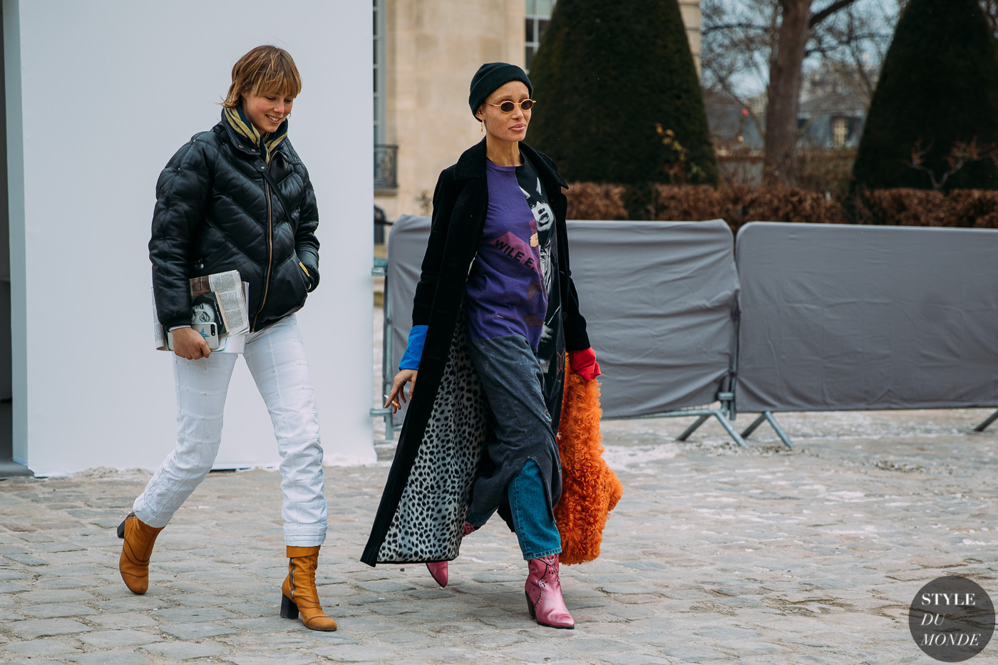 cdab82487869 Edie Campbell and Adwoa Aboah by STYLEDUMONDE Street Style Fashion  Photography FW18 20180227 48A5849 ...