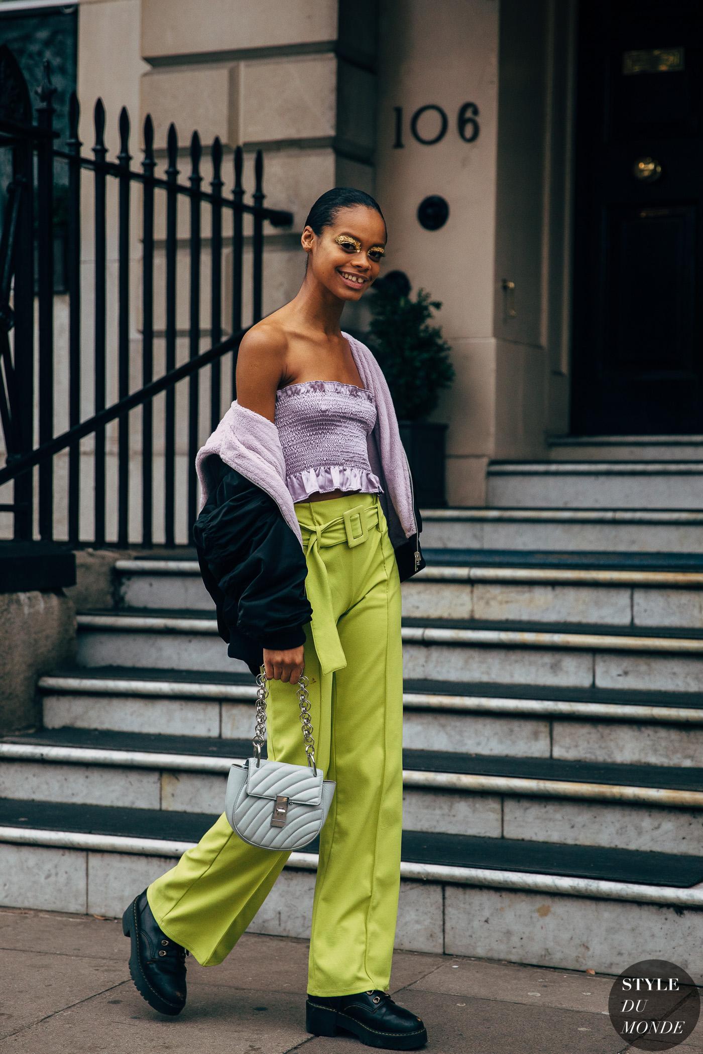 london fw 2019 street style aaliyah hydes  style du