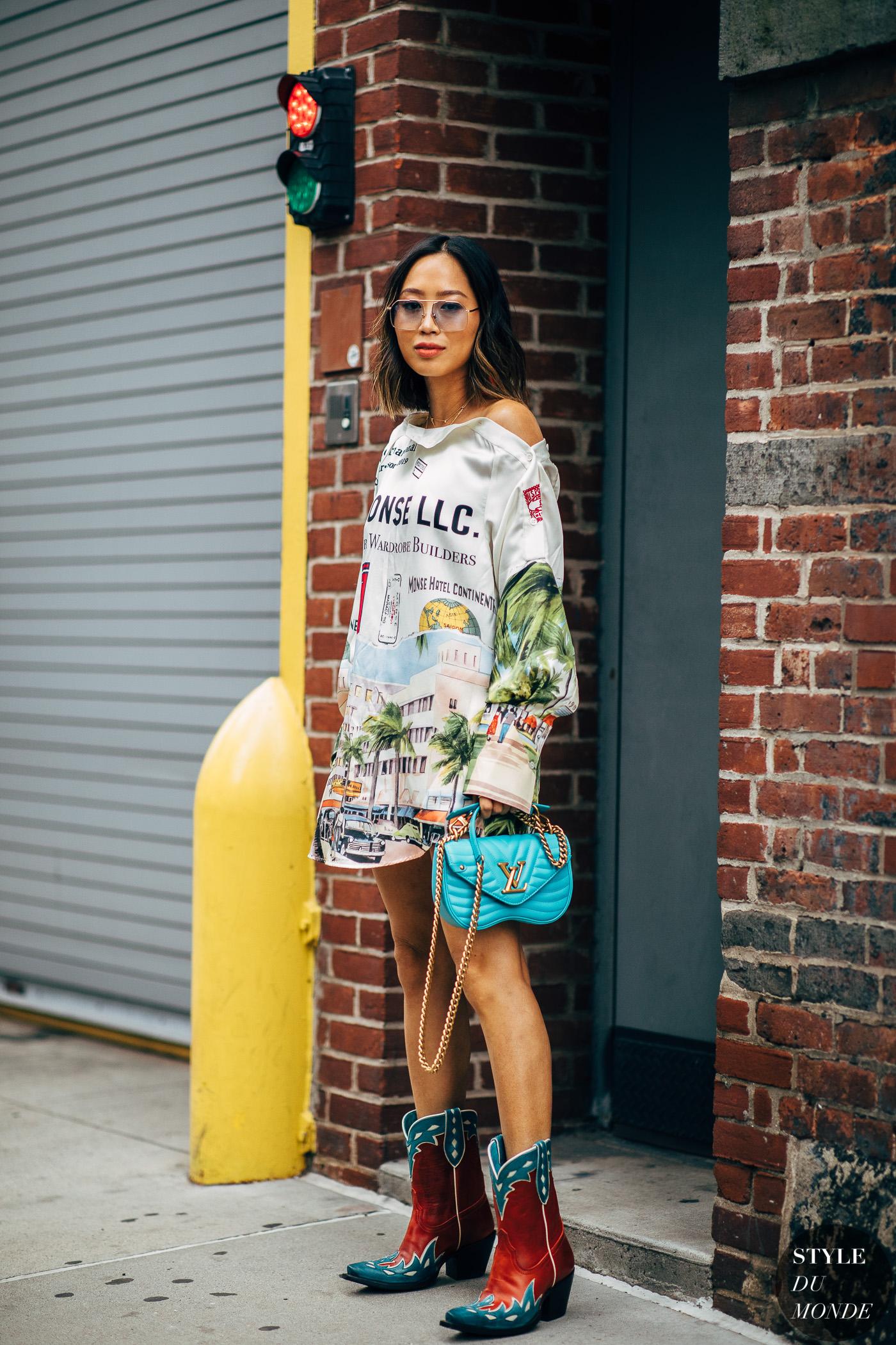 New York SS 2019 Street Style: Aimee Song - STYLE DU MONDE