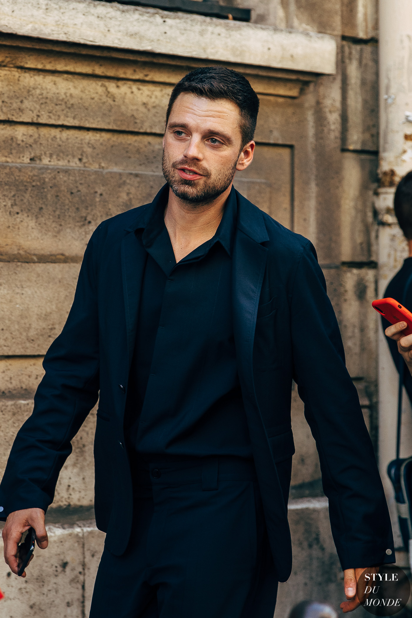 Haute Couture Fall 2019 Street Style: Sebastian Stan - STYLE