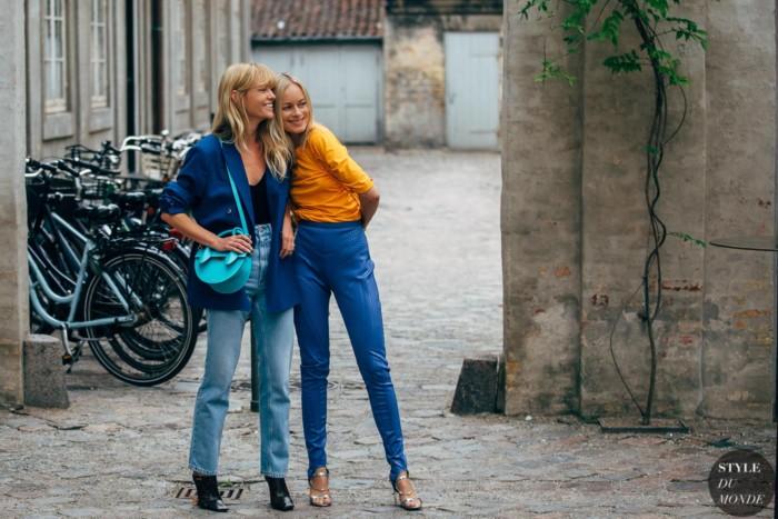 Copenhagen SS 2020 Street Style: Jeanette Madsen and Thora Valdimars