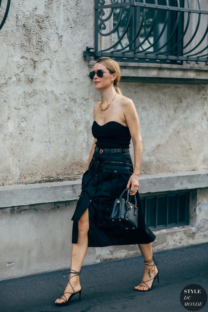 Milan SS 2020 Street Style: Pernille Teisbaek