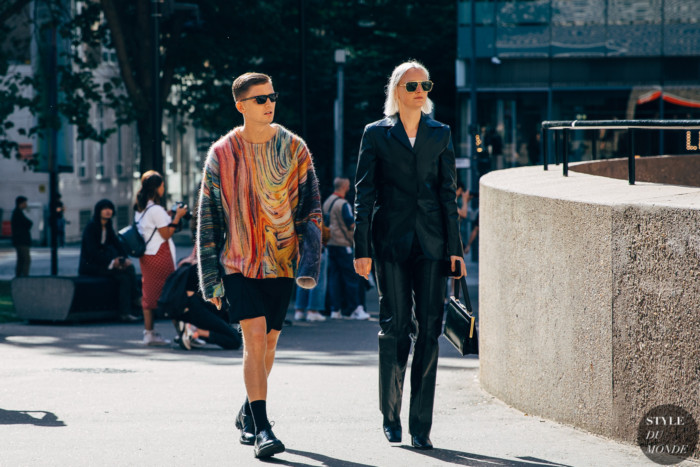 London SS 2020 Street Style: Christopher Morency and Bonnie Langedijk