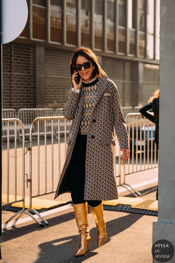 Milan Fall 2020 Street Style: Alison Loehnis