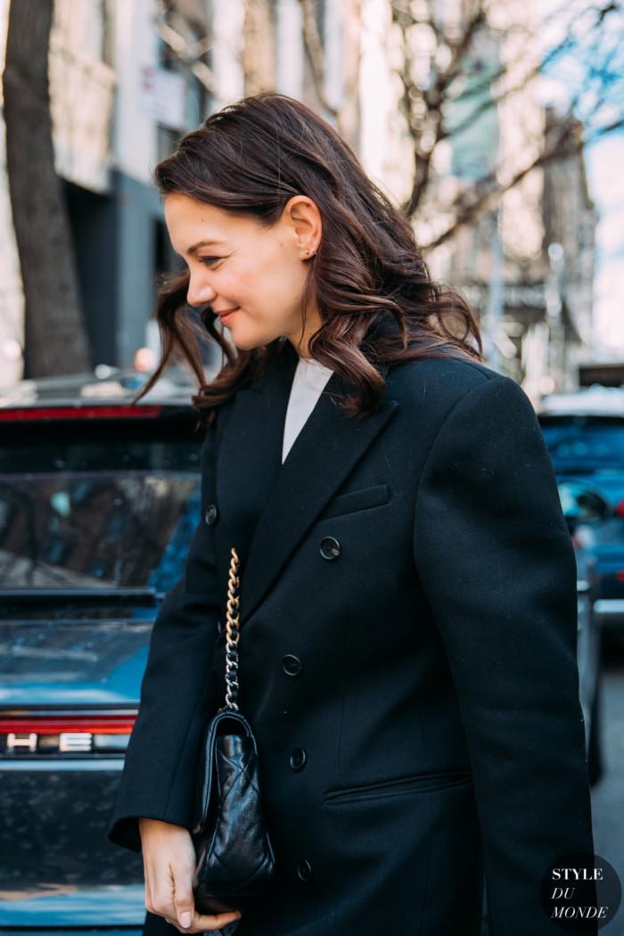 New York Fall 2020 Street Style: Katie Holmes