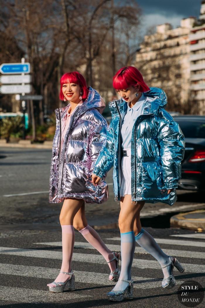Paris FW 2020 Street Style: Aya and Ami Suzuki