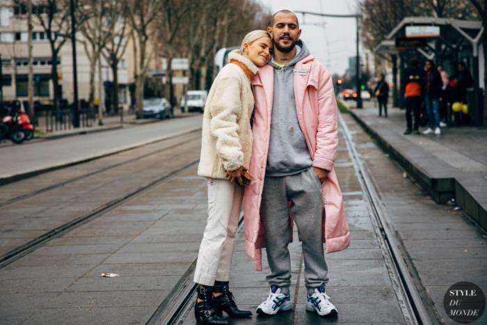 Paris FW 2019 Street Style: Caroline Daur and Marc Goehring