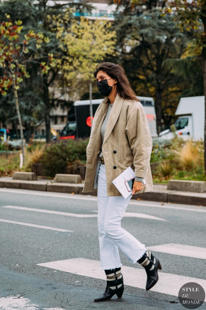 Paris SS 2021 Street Style: Emmanuelle Alt
