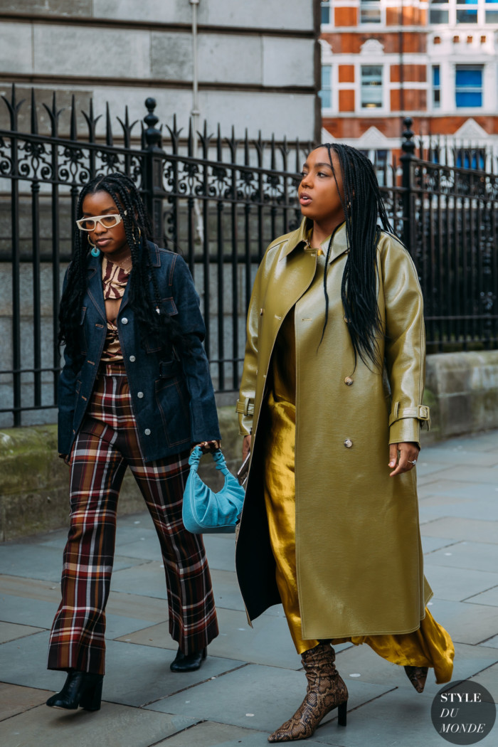 London Fall 2020 Street Style: Lindsay Peoples Wagner and colleague