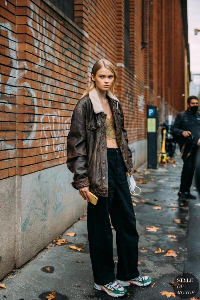 Milan SS 2021 Street Style: Evie Harris