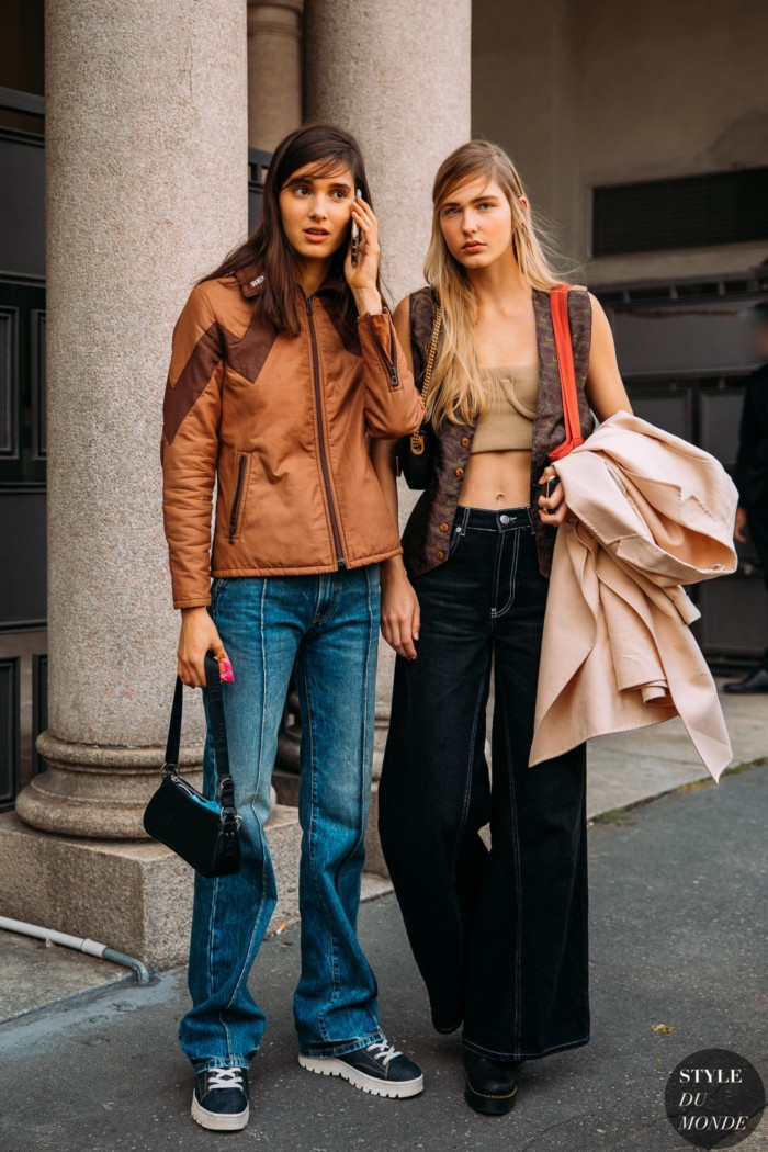 Milan SS 2021 Street Style: Rachelle Harris and Mia Brown