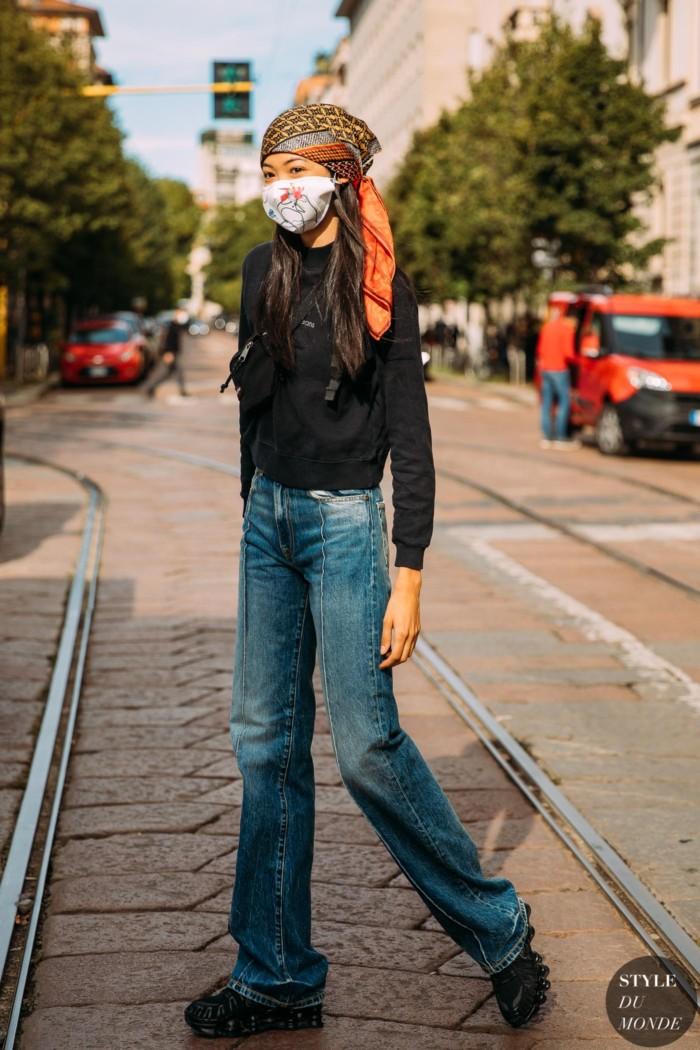 Milan SS 2021 Street Style: Mika Schneider