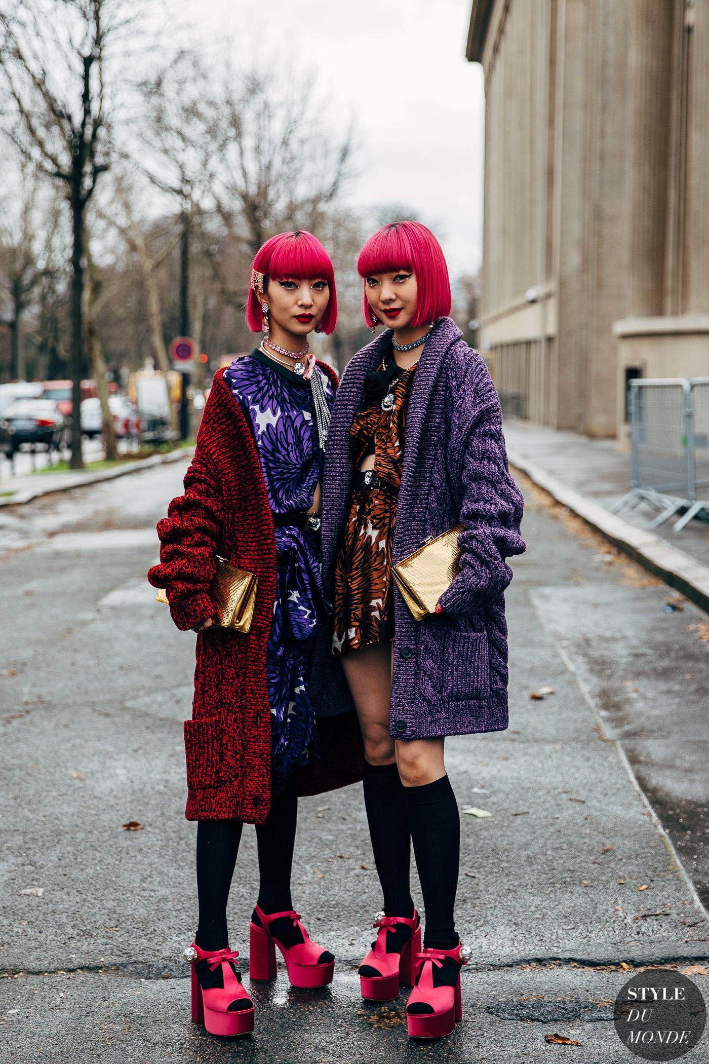 Paris FW 2020 Street Style: Ami and Aya
