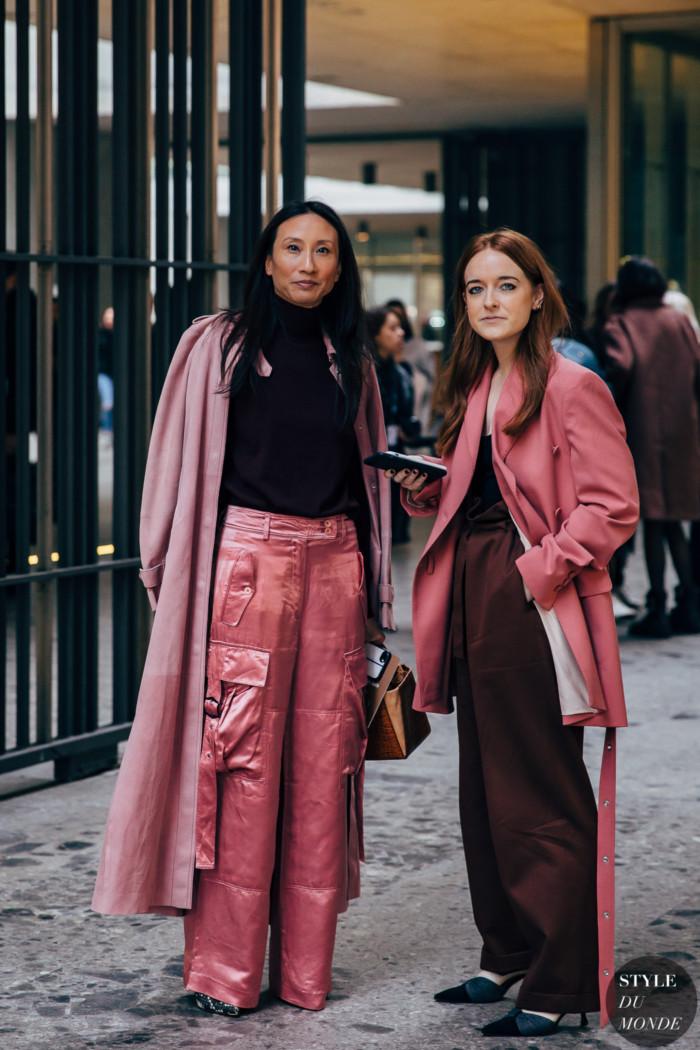 Milan FW 2019 Street Style: Elizabeth von der Goltz and Libby Jane Page