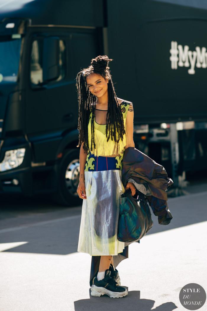 Paris SS 2019 Street Style: Sasha Lane