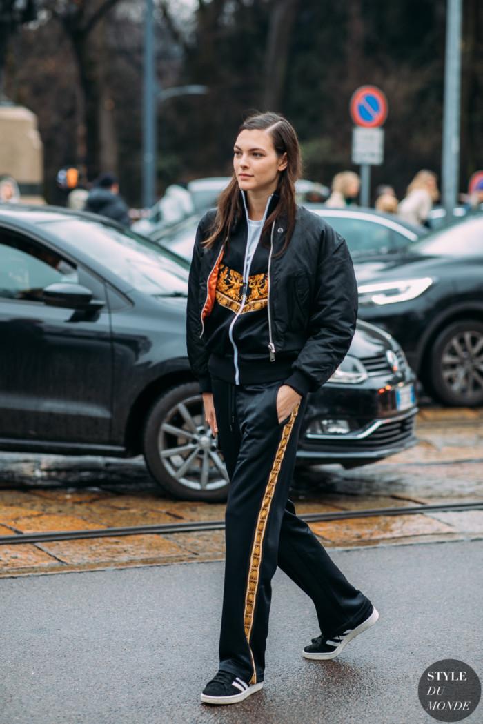 Milan FW 2019 Street Style: Vittoria Ceretti