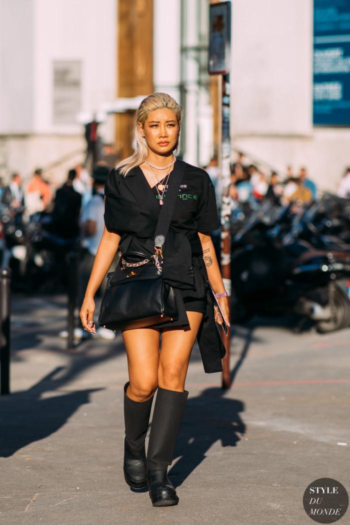 Paris Men's Fashion Week SS 2019 Street Style: Yoon Ahn