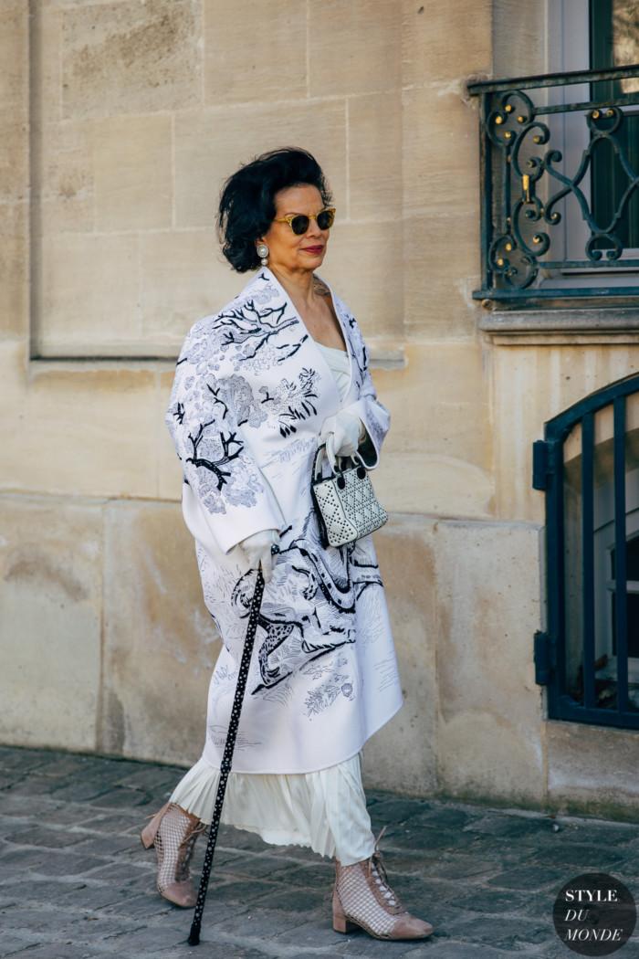 Paris FW 2019 Street Style: Bianca Jagger