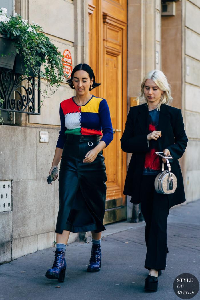 Paris SS 2019 Street Style: Elizabeth Fraser-Bell and Isabella Burley