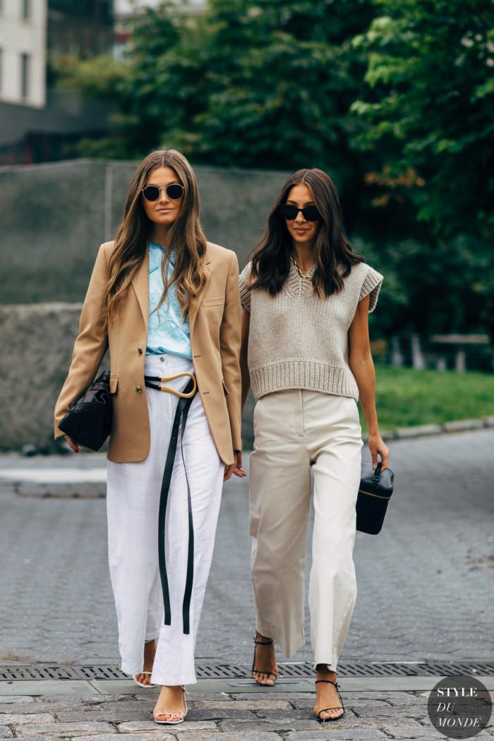 New York SS 2020 Street Style: Filippa Hagg and Felicia Akerstrom