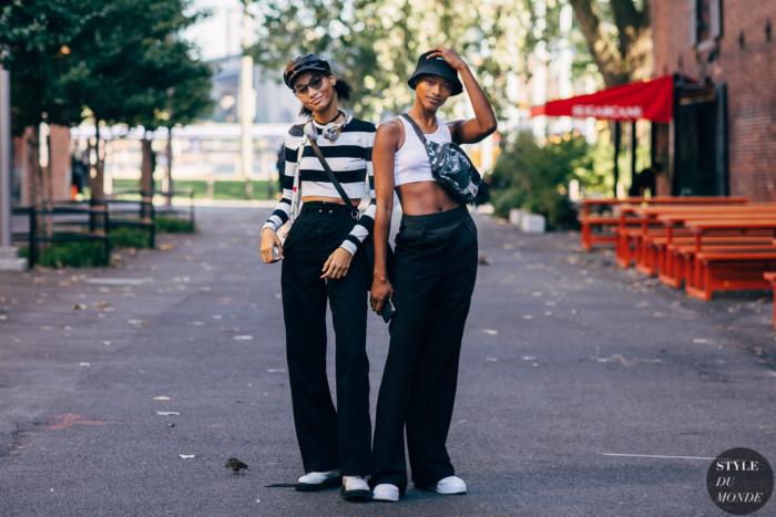 New York SS 2020 Street Style: Lineisy Montero and Mayowa Nicholas