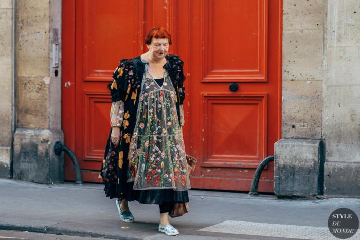 Paris SS 2019 Street Style: Lynn Yaeger